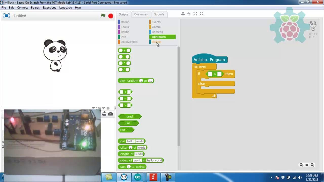 Tutorial 3 : Arduino LDR LED menggunakan mBlock