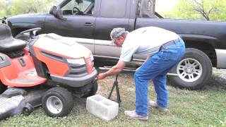 Lift lawn mower with easy jack!
