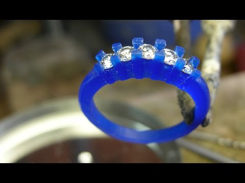 Wax Carving For A Five Stone Diamond Ring