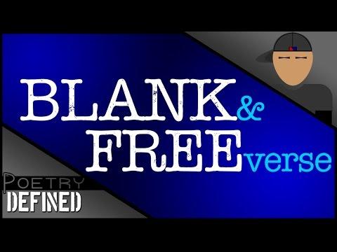 Blank & Free Verse, #PoetryDefined