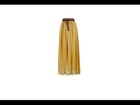 Сшить юбку длинную шифоновую юбку