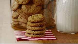 Cookie Recipes - How To Make Oatmeal Peanut Butter Cookies