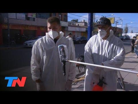 "Coronavirus | Jose C. Paz: Los ""cazavirus"" Salen Voluntariamente A Desinfectar Las Calles"