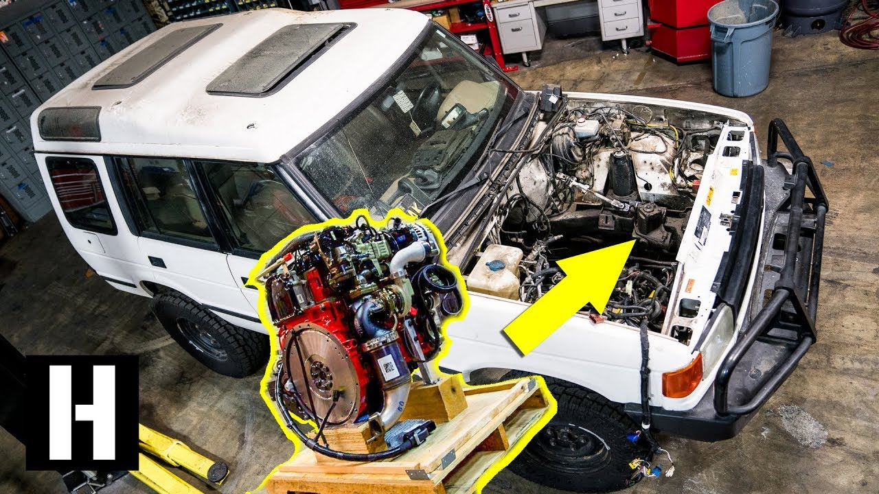 Cummins R2 8 Turbo Diesel Soon to Power Scotto's Land Rover Discovery?!?  #semacrunch