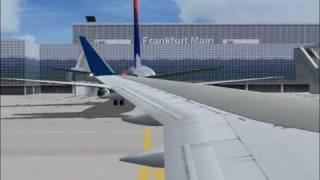 Delta 106 arriving Frankfurt Airport (FS2004)