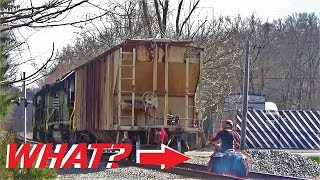 ATV Rider CHASES Train! - H76 Servicing FS Growmark
