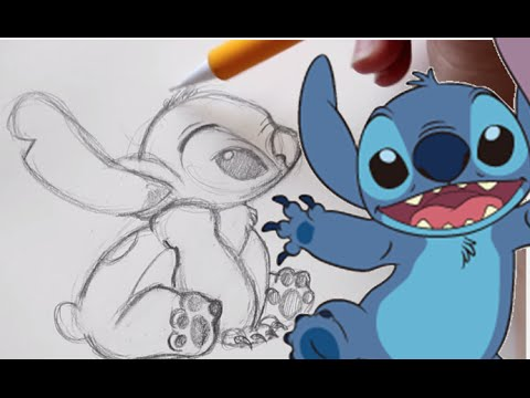 How To Draw Stitch From Disney S Lilo And Stitch Dramaticparrot Youtube