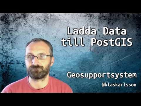 Importera data till PostGIS med QGIS