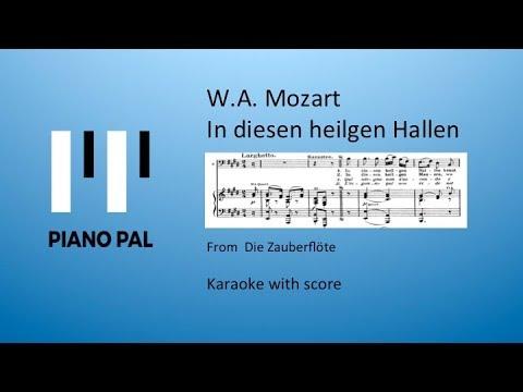 In diesen heilgen Hallen Zauberflöte Mozart Karaoke Pianopal