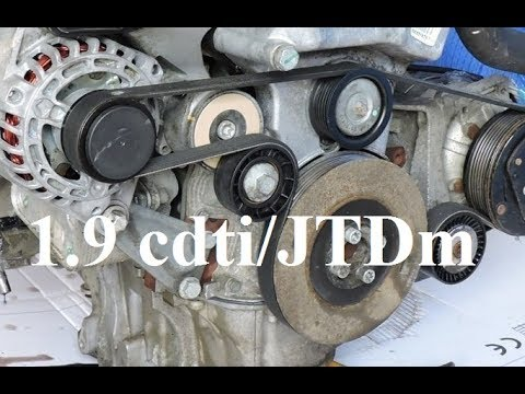 How To Replace V Ribbed Belt Amp Tensioner 1 9 Cdti Jtdm