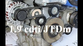 How to replace v-ribbed belt & tensioner - 1.9 cdti/JTDm - Astra, Zafira, Vectra, Alfa Romeo, Saab