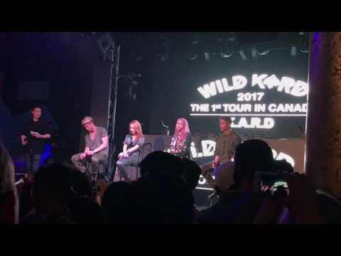 170503  K.A.R.D's first impressions of each other @ Wild K.A.R.D 2017 in Vancouver