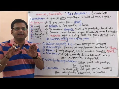 General Anaesthetic (Part 01) = Pre Anaesthetic Drugs Role (HINDI) By Solution Pharmacy