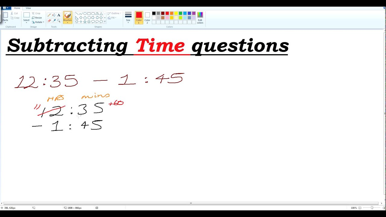worksheet Subtracting Time subtracting time questions youtube questions