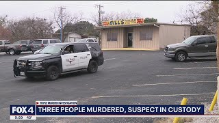 Suspect arrested after 3 people found dead at Fort Worth car dealership, Palo Pinto County building