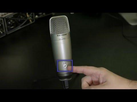 Samson C01U Pro USB Microphone: Set up for Mac and Windows