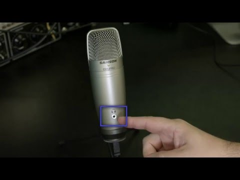 Samson C01U Pro USB Microphone: Set up for Mac and Windows