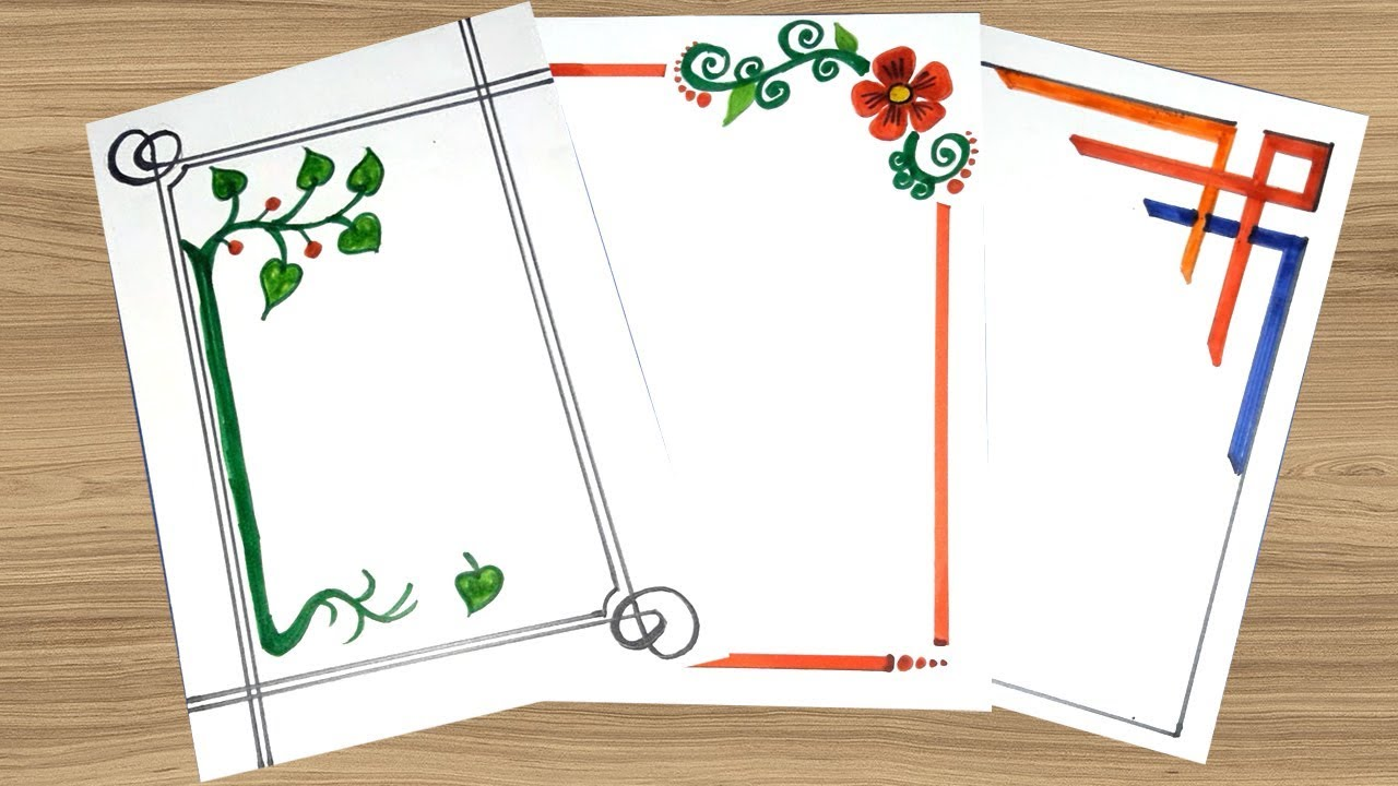 Simple Border Designs On Paper