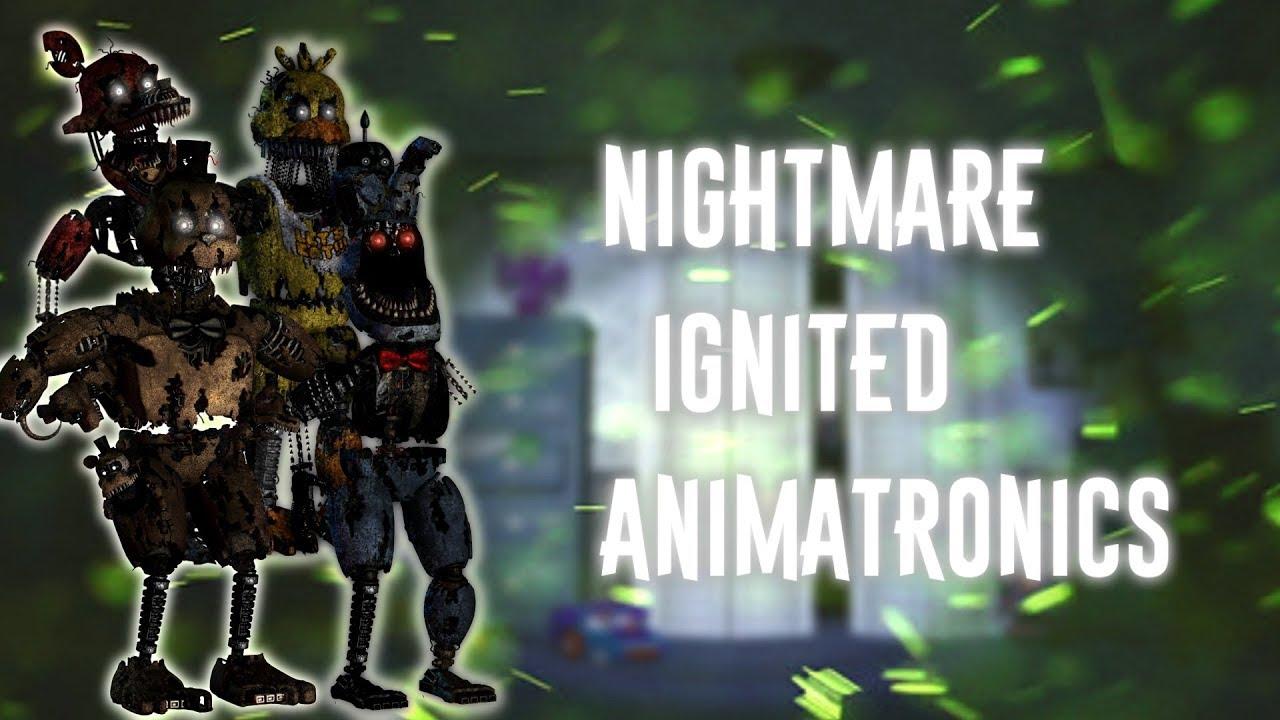 [FNAF   Speed Edit] Making Nightmare Ignited Animatronics