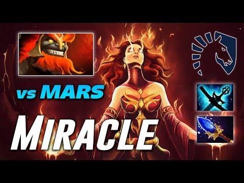 Miracle Lina Vs MARS New Hero | Dota 2 Pro Gameplay