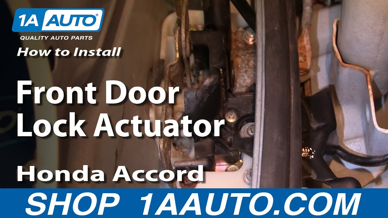 maxresdefault how to install replace front door lock actuator honda accord 94 97  at creativeand.co