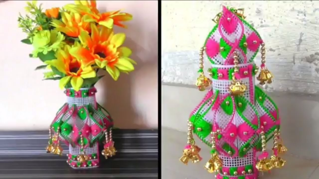 Diy , How to make Vase For Decoration At Home