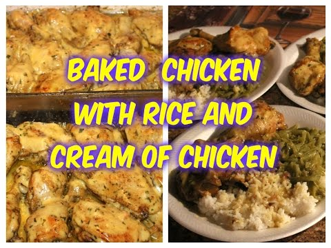 ''BAKED CHICKEN''... TOPPED WITH CREAM OF CHICKEN