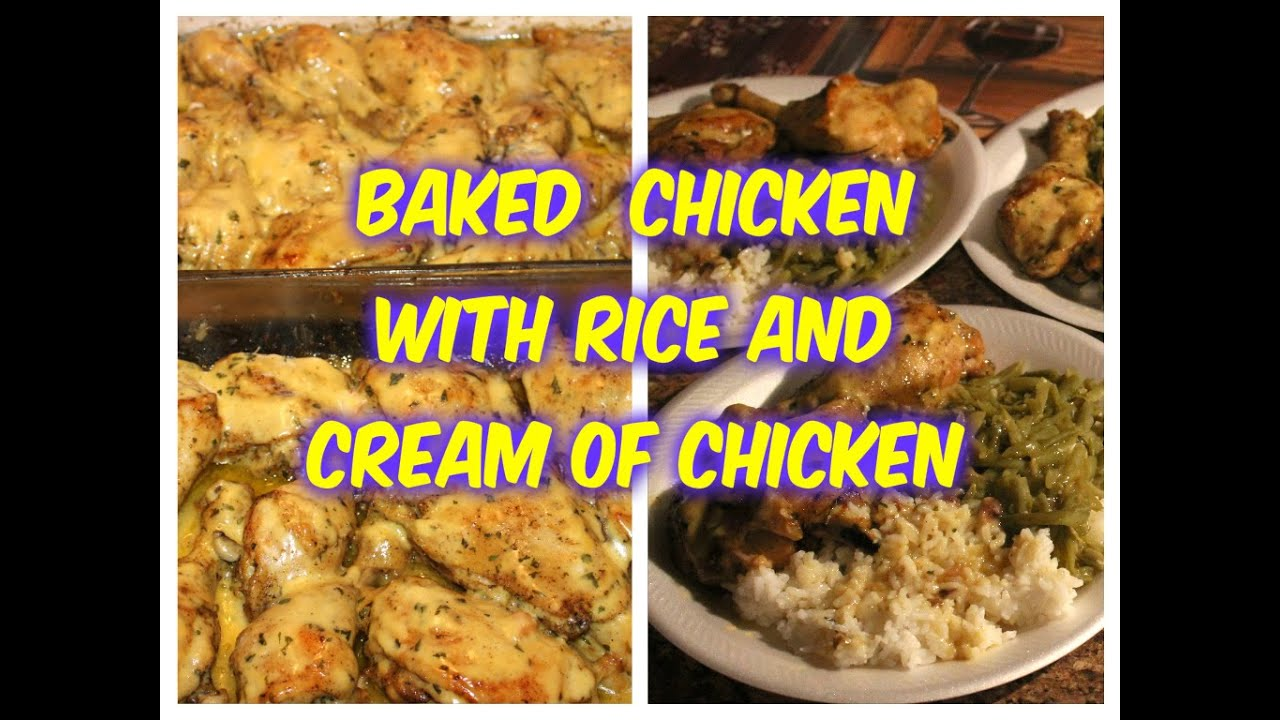 Baked chicken topped with cream of chicken youtube topped with cream of chicken youtube forumfinder Images