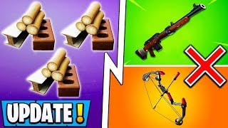 *ALL* Fortnite 9.20 Changes! | Material Update, Hunting Rifle, Boom Bow!