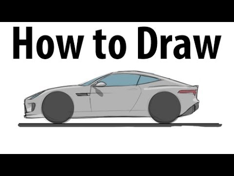 How To Draw A Jaguar F Type Coupe Sketch It Quick Youtube