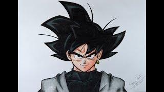 Como desenhar GOKU BLACK passo a passo