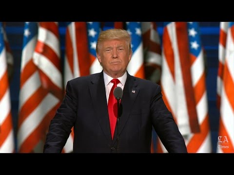 Donald Trump, Republican nominee for president, speaks at the Republican National Convention