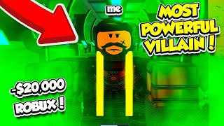 SPENDING 20,000 ROBUX To BECOME The MOST POWERFUL VILLAIN In SUPERHERO SIMULATOR!! (Roblox)