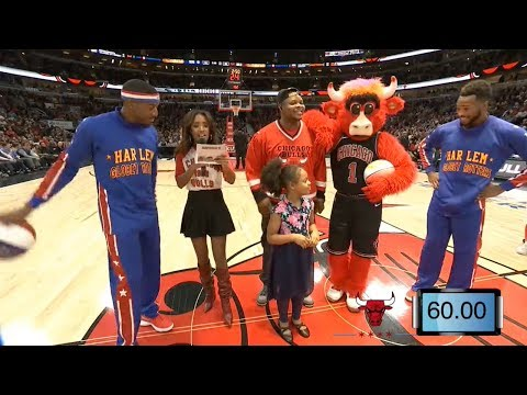 Harlem Globetrotters Visit A Chicago Bulls Game