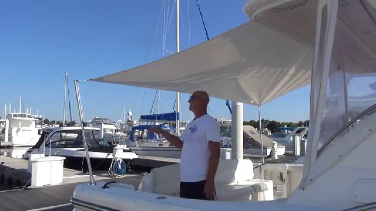 How To Make Boat Canvas Sun Fly Strut Youtube