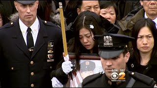 Thousands Mourn At Funeral For NYPD Officer Wenjian Liu