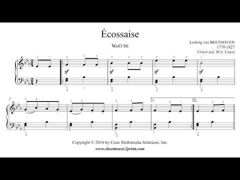 Beethoven : Écossaise in E flat Major, WoO 86