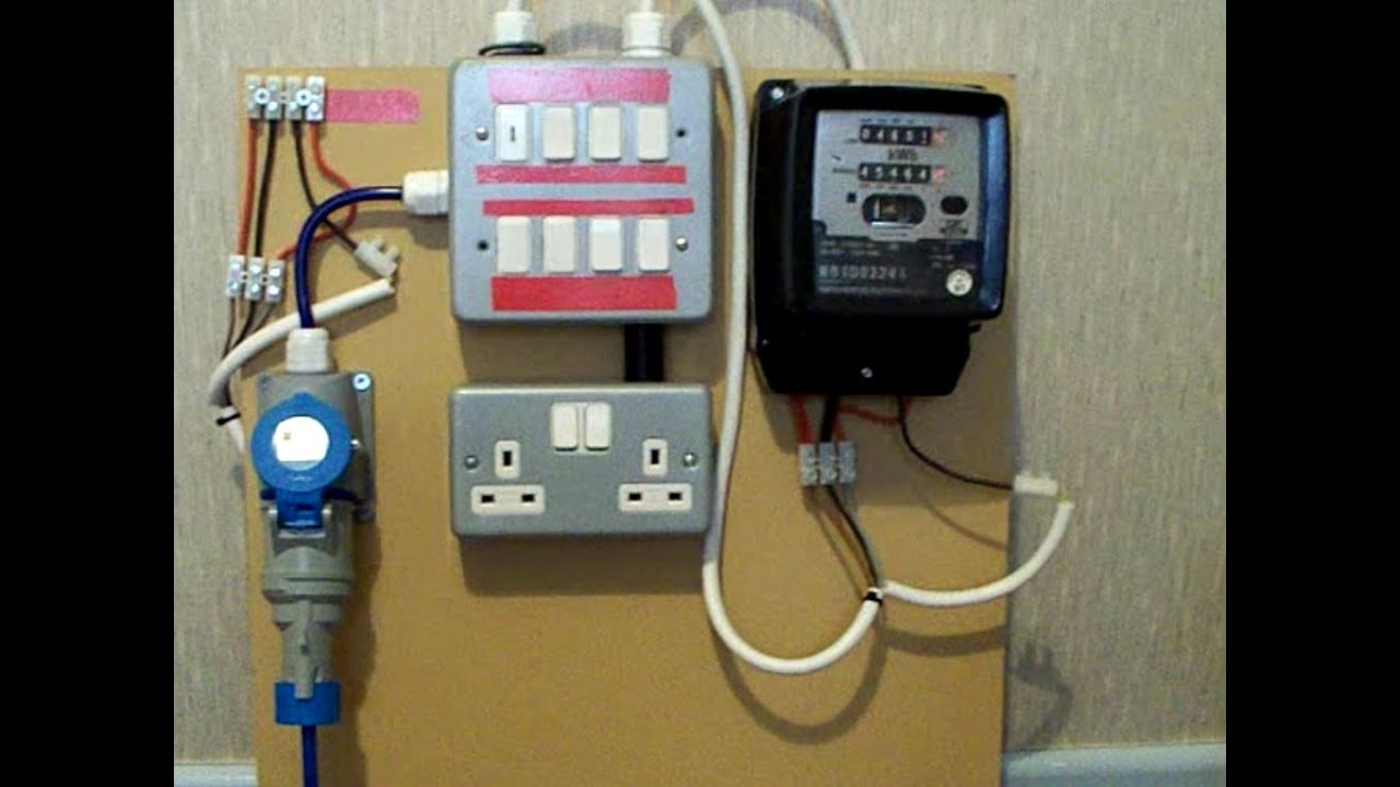 electricity meter 1 of 2 metering board demo