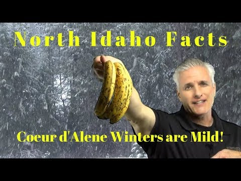 North Idaho Facts: Coeur d'Alene winters are Mild