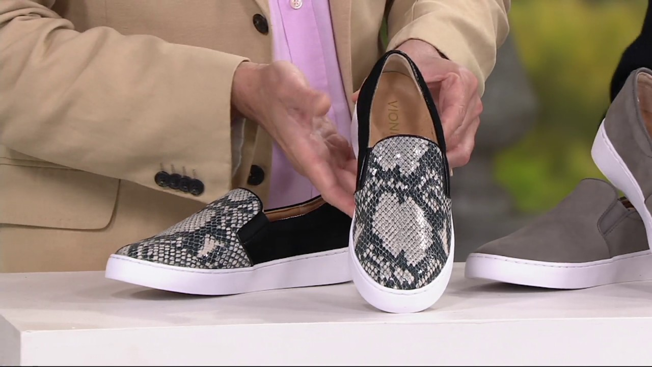 1e8b35b77145 Vionic Orthotic Leather or Suede Slip-On Shoes - Midi on QVC - YouTube
