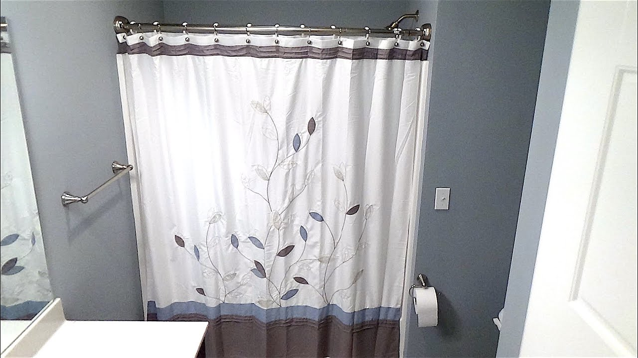 Curved Shower Curtains Rods Double Curved Shower Rod Installation How To Install