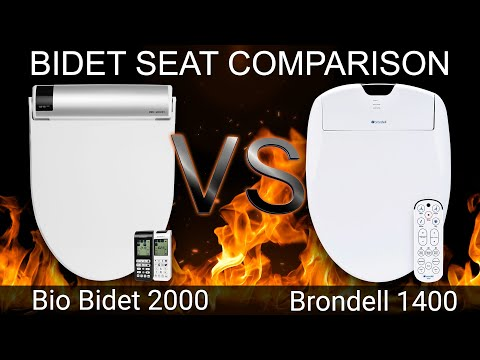 Bio Bidet Bb 2000 Bliss Vs Brondell Swash 1400 Bidet Toilet Seat Comparison Bidetking Com Youtube