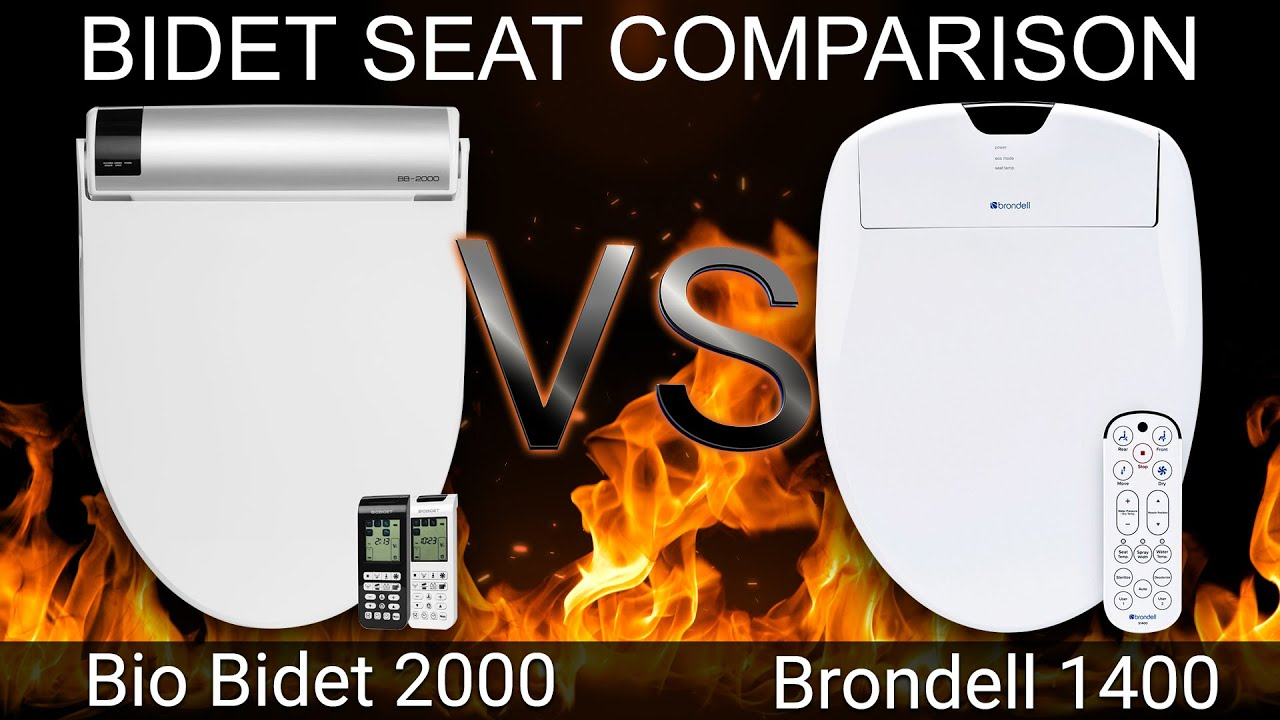 Bio Bidet Bb 2000 Bliss Vs Brondell Swash 1400 Bidet Toilet Seat Comparison Bidetking Com Youtube