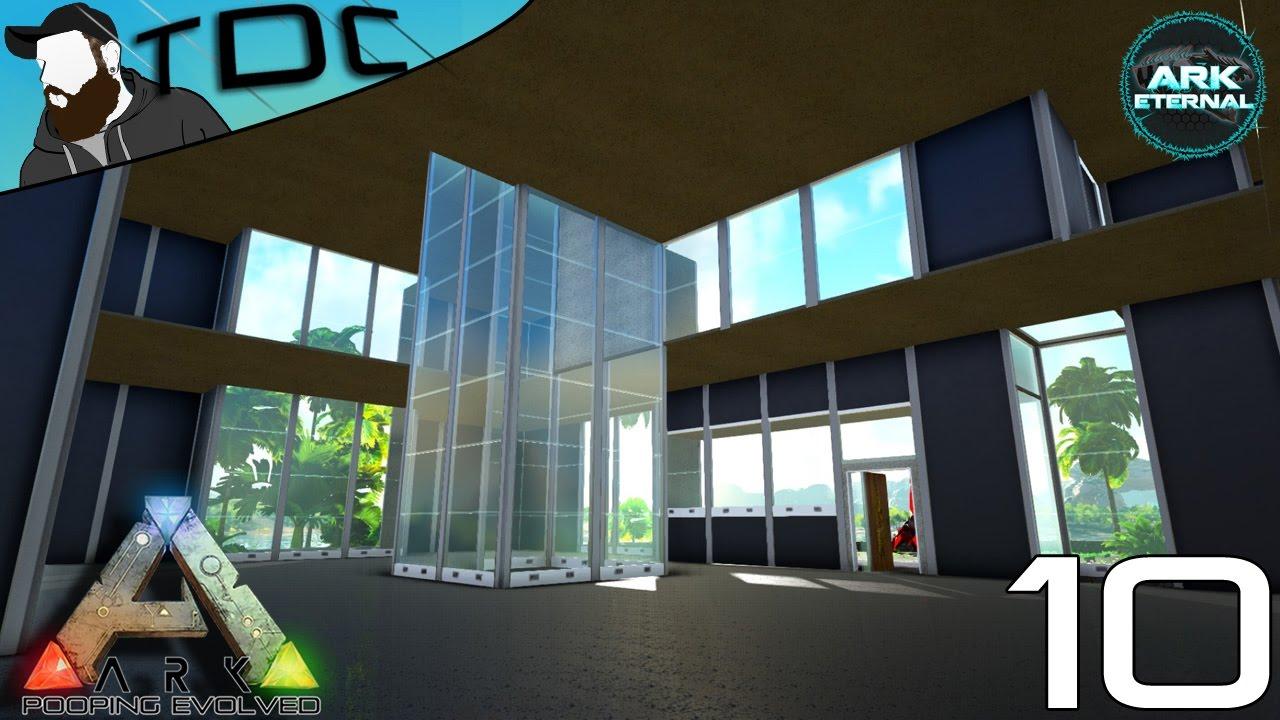 Modern house base build ep 10 modded ark eternal crystal isles