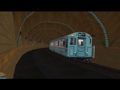 OpenBVE HD: NYC Subway Train of Many Colors [New Release] Passing Abandoned City Hall Station