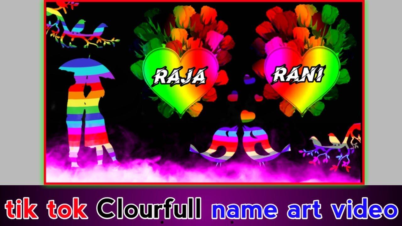 Clourfull name art video editing in kinemaster    name art video tutorial   name Wala status video