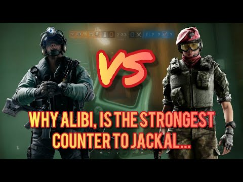 WHY ALIBI IS THE BEST WAY TO COUNTER JACKAL!!! - rainbow six siege