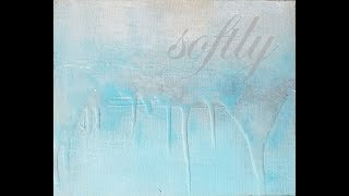 How to Paint with Acrylics - String Gel - Creating an Easy Textured Abstract Landscape thumbnail