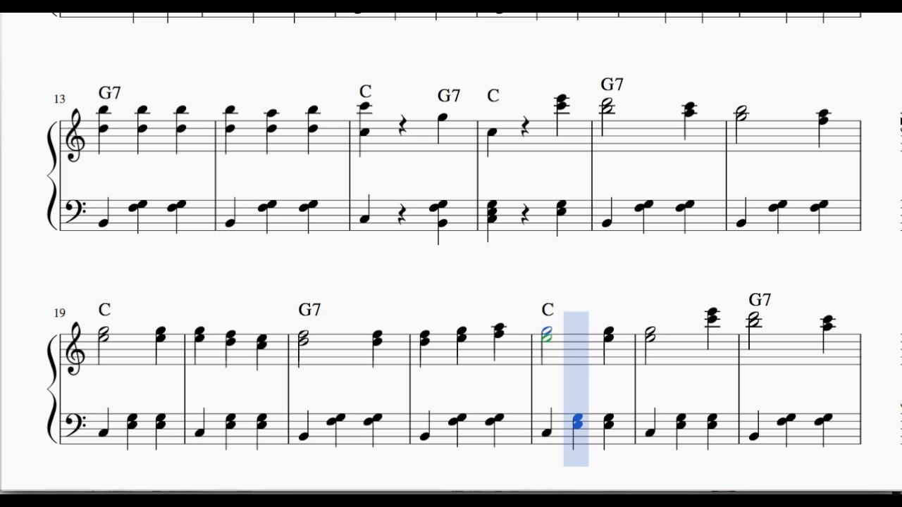 Chopsticks Partitura de Piano Fácil para Principiantes