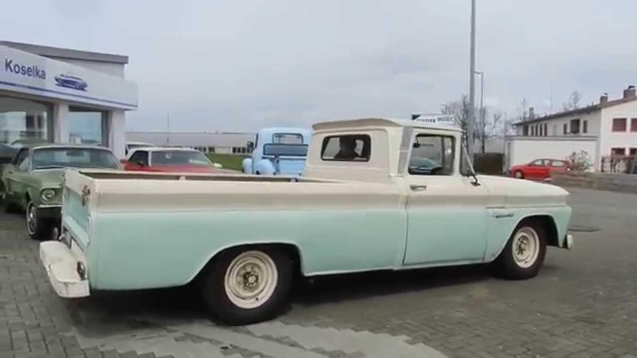 1960 chevrolet apache c 20 v8 longbed pick up fleetside video i youtube. Black Bedroom Furniture Sets. Home Design Ideas